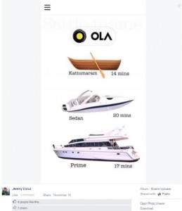 ola saves a day kind of