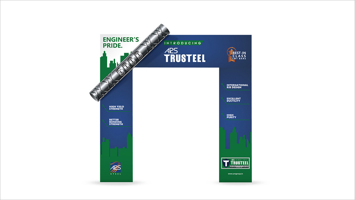 ad agency brochure design - ars trusteel arch design branding advertising